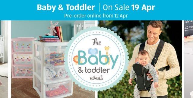 next aldi baby and toddler event 2018 dates pre order. Black Bedroom Furniture Sets. Home Design Ideas