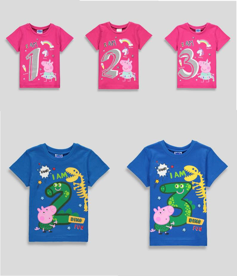 Peppa Pig Birthday T-shirts